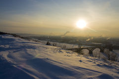 Cuesta de la nieve Imagen de archivo libre de regalías