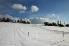 Cuesta de la nieve Foto de archivo libre de regalías