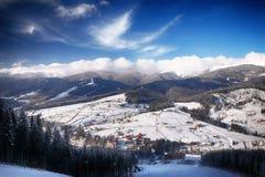 Cuesta de montaña del panorama Imagen de archivo