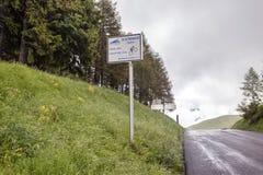 Cuesta de Peyresourde Tour de France fotos de archivo libres de regalías