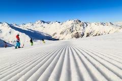 Cuesta del esquí Fotografía de archivo