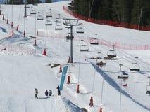 Cuesta del esquí Imagen de archivo libre de regalías