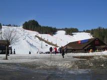 Cuesta del esquí Fotografía de archivo libre de regalías
