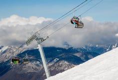 Cuesta del esquí Fotos de archivo libres de regalías