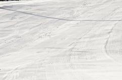 Cuesta del esquí y del snowboard Fotos de archivo