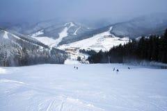 Cuesta del hielo para el esquí Fotos de archivo libres de regalías