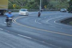 Cuesta del plomo up hill highway, Managua Stock Photo