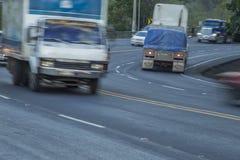 Cuesta del plomo up hill highway, Managua Stock Image