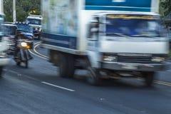 Cuesta del plomo up hill highway, Managua Royalty Free Stock Images
