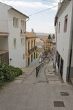 The Cuesta del Realejo in Granada, Spain Royalty Free Stock Photo