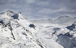 Cuesta en el pico de Matterhorn en Suiza Imágenes de archivo libres de regalías