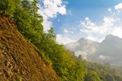 Cuesta en las montañas Imagen de archivo