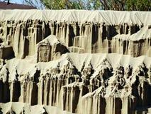 Cuesta escarpada de la mina de la arena Fotos de archivo libres de regalías