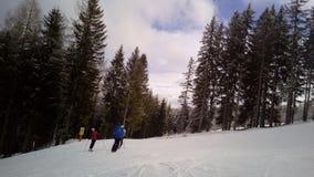 Cuesta A1, Katcshberg Aineck, Austria del esquí Fotos de archivo