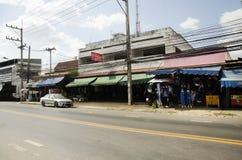 Cuesta natural de teñido del añil de Mauhom de la ropa del batik del lazo del mercado callejero Fotografía de archivo