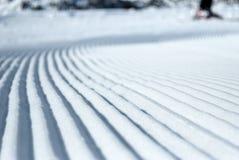 Cuesta preparada del esquí Imágenes de archivo libres de regalías