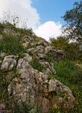 Cuesta rocosa de la colina Imagen de archivo