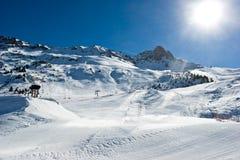 Cuesta vacía del esquí Imágenes de archivo libres de regalías