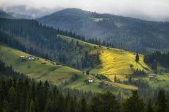 Cuestas de las montañas cárpatas imágenes de archivo libres de regalías