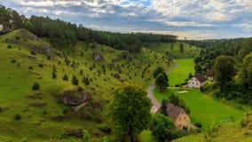Cuestas del enebro en el valle de Kleinziegenfeld en Alemania Imagen de archivo
