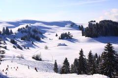 Cuestas del esquí Imagen de archivo libre de regalías