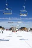 Cuestas del esquí de la estación de esquí de Pradollano en España Fotografía de archivo