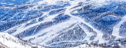 Cuestas del esquí en Hemsedal Fotografía de archivo