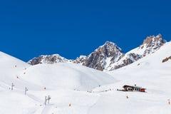 Cuestas del esquí, Tignes Francia Imagenes de archivo