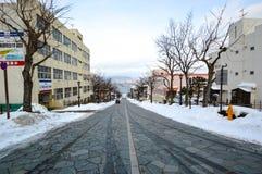 Cuestas en Motomachi, Hakodate, Hokkaido Japón Imagenes de archivo