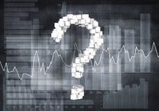 Cuestión del crecimiento financiero, representación 3d imagen de archivo libre de regalías