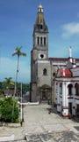 Cuetzalan kyrklig och huvudsaklig fyrkant Royaltyfri Bild