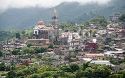 Panoramic view of Cuetzalan stock images
