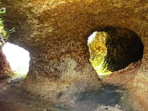 Cueva antigua del sentono Foto de archivo