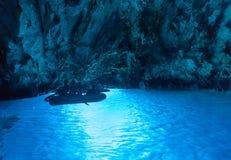Cueva azul foto de archivo libre de regalías