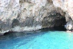 Cueva azul Foto de archivo