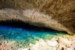 Cueva azul del lago mato Grosso do Sul Imagen de archivo libre de regalías