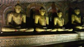Cueva Buda, Sri Lanka de Dambulla fotografía de archivo