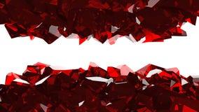 Cueva de fragmentos rojos Fotos de archivo libres de regalías