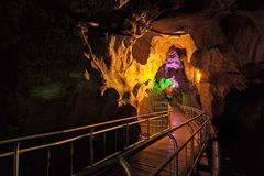 Cueva de Gua Kelam Kelam Imagen de archivo
