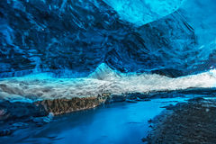 Cueva de hielo Foto de archivo libre de regalías