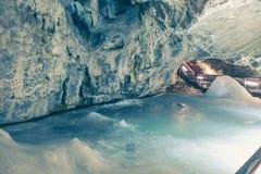 Cueva de hielo de Demanovska Foto de archivo