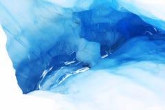 Cueva de hielo de fusión en el glaciar del Fox, Nueva Zelandia Foto de archivo libre de regalías
