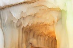Cueva de hielo de los diez milésimos Imagenes de archivo