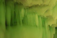Cueva de hielo de los diez milésimos Foto de archivo