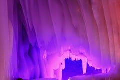 Cueva de hielo de los diez milésimos Imágenes de archivo libres de regalías