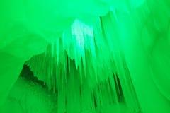 Cueva de hielo de los diez milésimos Fotos de archivo