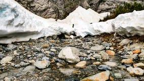 Cueva de hielo del bebé foto de archivo