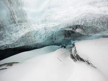 Cueva de hielo Islandia Imagen de archivo