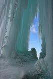 Cueva de hielo magnífica de la isla Imagen de archivo libre de regalías
