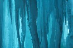 Cueva de hielo magnífica de la isla Foto de archivo